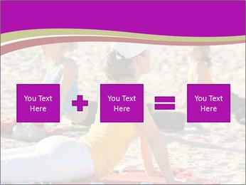 Women doing yoga PowerPoint Template - Slide 95