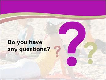 Women doing yoga PowerPoint Template - Slide 96