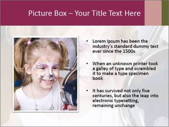 Little girl having face painted PowerPoint Templates - Slide 13