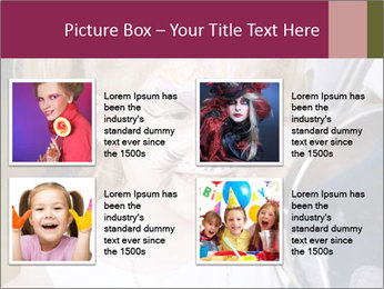 Little girl having face painted PowerPoint Templates - Slide 14