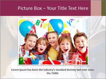 Little girl having face painted PowerPoint Templates - Slide 15