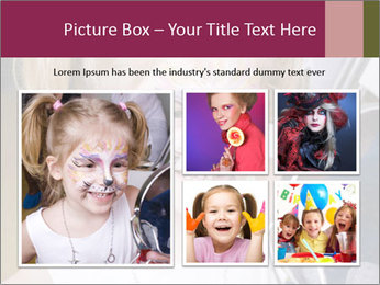 Little girl having face painted PowerPoint Templates - Slide 19