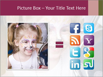 Little girl having face painted PowerPoint Templates - Slide 21