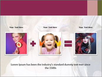 Little girl having face painted PowerPoint Templates - Slide 22