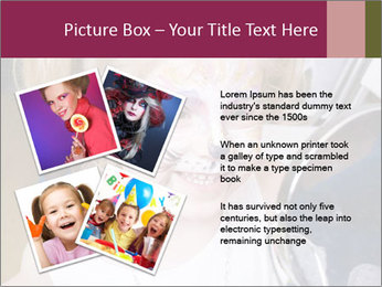 Little girl having face painted PowerPoint Templates - Slide 23