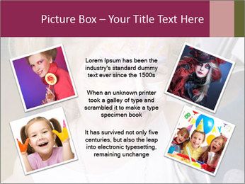 Little girl having face painted PowerPoint Templates - Slide 24