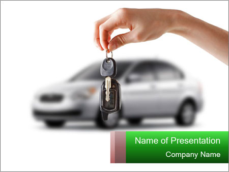 Keys to the car PowerPoint Template