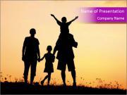 Happy family PowerPoint Templates
