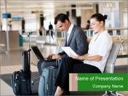 Business travellers waiting PowerPoint Templates