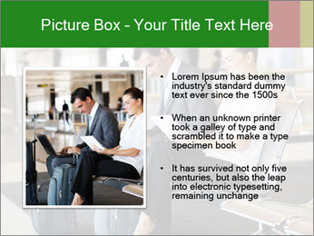 Business travellers waiting PowerPoint Template - Slide 13