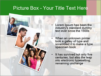 Business travellers waiting PowerPoint Template - Slide 17