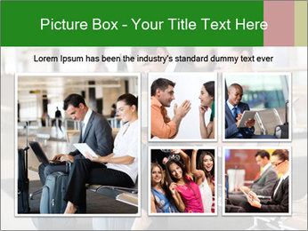 Business travellers waiting PowerPoint Template - Slide 19