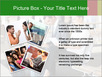 Business travellers waiting PowerPoint Template - Slide 23