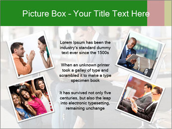 Business travellers waiting PowerPoint Template - Slide 24