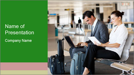 Business travellers waiting PowerPoint Template