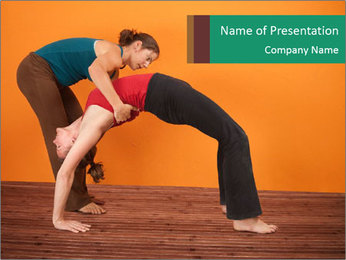 Yoga instructor PowerPoint Template - Slide 1
