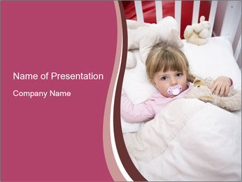 Baby Girl PowerPoint Template - Slide 1