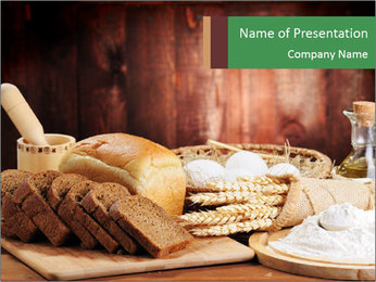 Bread PowerPoint Template - Slide 1