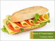 Cheese sandwich PowerPoint Templates
