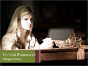 Blonde Woman Praying PowerPoint Templates