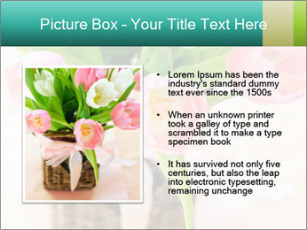 Pink tulips PowerPoint Template - Slide 13