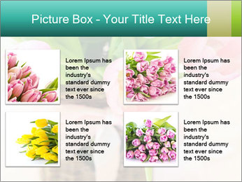 Pink tulips PowerPoint Template - Slide 14