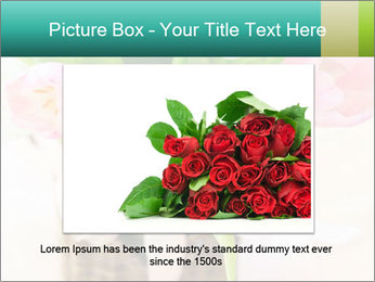 Pink tulips PowerPoint Template - Slide 16