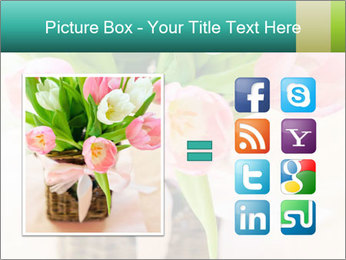 Pink tulips PowerPoint Template - Slide 21