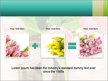 Pink tulips PowerPoint Template - Slide 22