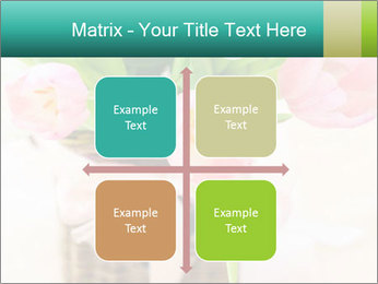 Pink tulips PowerPoint Template - Slide 37