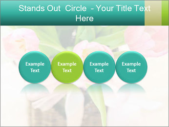 Pink tulips PowerPoint Template - Slide 76