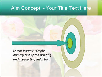 Pink tulips PowerPoint Template - Slide 83