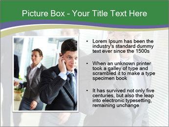 Businessman calling PowerPoint Template - Slide 13