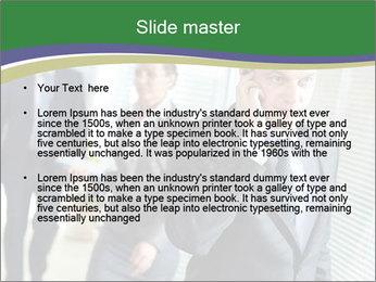 Businessman calling PowerPoint Template - Slide 2