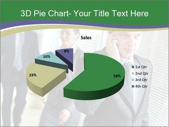 Businessman calling PowerPoint Template - Slide 35
