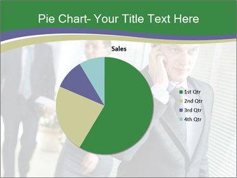 Businessman calling PowerPoint Template - Slide 36