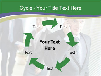 Businessman calling PowerPoint Template - Slide 62