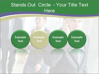 Businessman calling PowerPoint Template - Slide 76