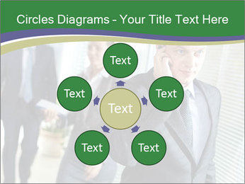 Businessman calling PowerPoint Template - Slide 78