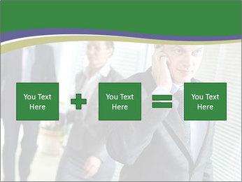 Businessman calling PowerPoint Template - Slide 95