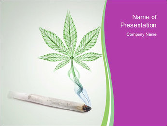 Marijuana PowerPoint Template - Slide 1