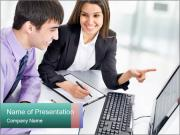 People working PowerPoint Templates