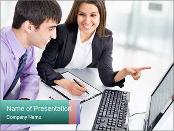 People working PowerPoint Templates - Slide 1