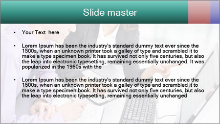 People working PowerPoint Template - Slide 2