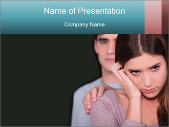 Young couple PowerPoint Template - Slide 1