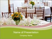 Wedding tables set PowerPoint Templates