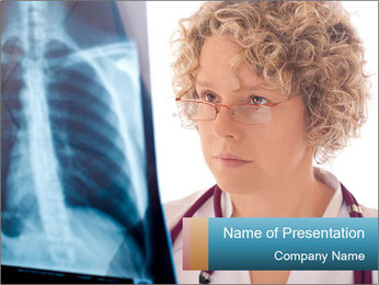 Doctor looking xray PowerPoint Template