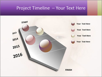 Pretty blond PowerPoint Template - Slide 26