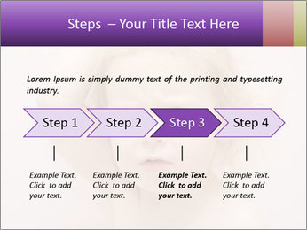 Pretty blond PowerPoint Template - Slide 4