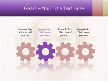 Pretty blond PowerPoint Template - Slide 48